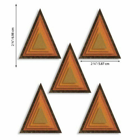 Sizzix Tim Holtz Thinlits stanssisetti Stacked Tiles, Triangles