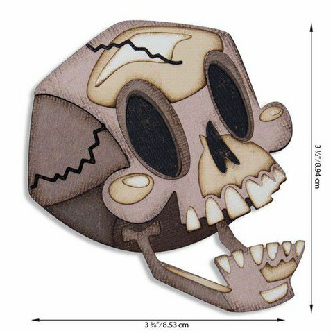 Sizzix Tim Holtz Thinlits stanssisetti Skelly, Colorize