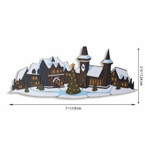 Sizzix Tim Holtz Thinlits stanssisetti Holiday Village, Colorize