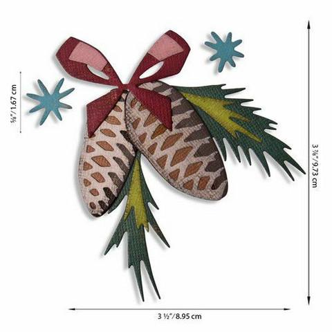 Sizzix Tim Holtz Thinlits stanssisetti Festive Trims, Colorize