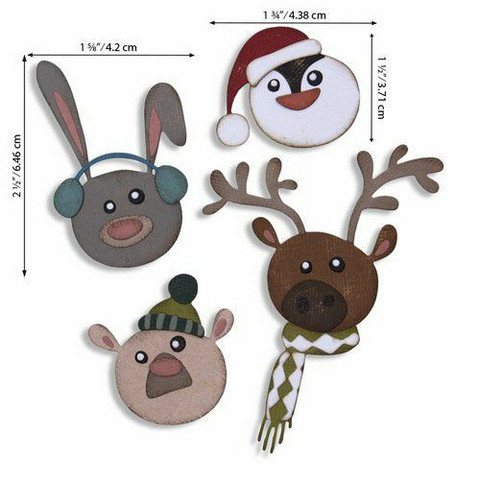 Sizzix Tim Holtz Thinlits stanssisetti Winter Critters
