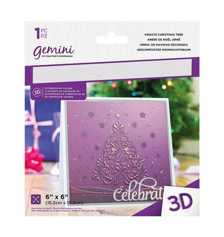 Gemini 3D kohokuviointikansio Ornate Christmas Tree