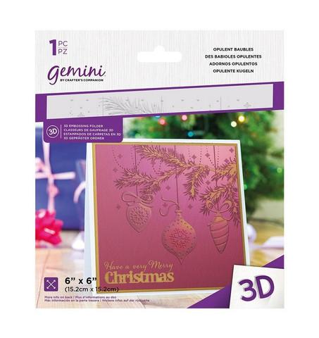 Gemini 3D kohokuviointikansio Opulent Baubles