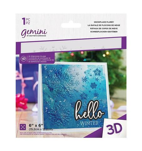 Gemini 3D kohokuviointikansio Snowflake Flurry