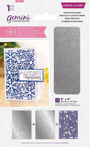 Gemini Double-Sided Create-A-Card stanssi Snowflake Kisses