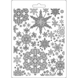 Stamperia Snowflakes -muotti (tekstuurilevy)