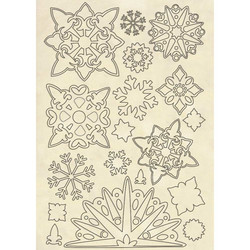 Stamperia Wooden Shapes Snowflakes -puukuviot