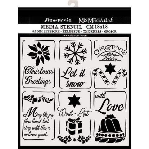 Stamperia sapluuna Christmas Tags