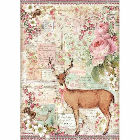 Stamperia riisipaperi Christmas Deer