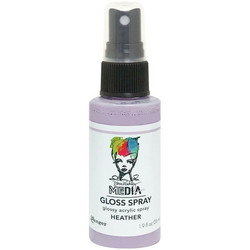 Dina Wakley Media Gloss Spray -suihke, sävy Heather, 56 ml
