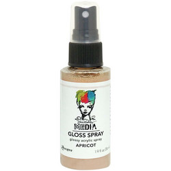 Dina Wakley Media Gloss Spray -suihke, sävy Apricot, 56 ml