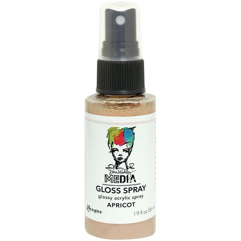 Dina Wakley Media Gloss Spray -suihke, sävy Apricot, 56 ml