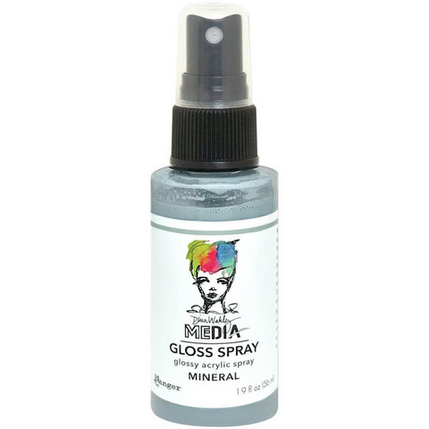 Dina Wakley Media Gloss Spray -suihke, sävy Mineral, 56 ml