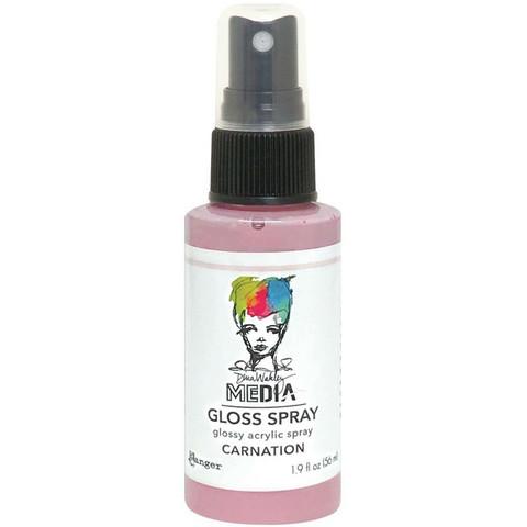 Dina Wakley Media Gloss Spray -suihke, sävy Carnation, 56 ml