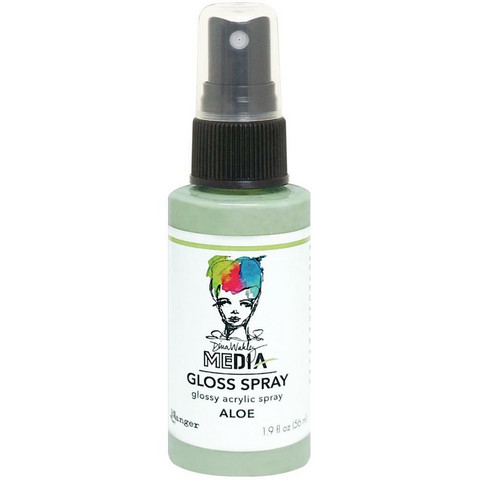 Dina Wakley Media Gloss Spray -suihke, sävy Aloe, 56 ml