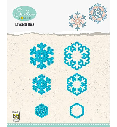 Nellie's Choice stanssisetti Layered Snowflakes 02
