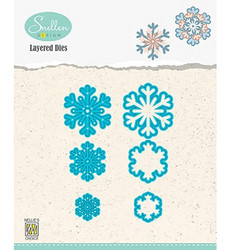 Nellie's Choice stanssisetti Layered Snowflakes 03