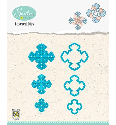 Nellie's Choice stanssisetti Layered Snowflakes 04