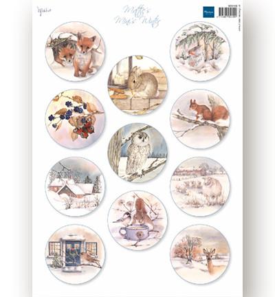 Marianne Design korttikuvat Mattie's Mini Winter