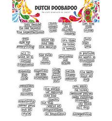 Dutch Doobadoo tarra-arkki Doodle Text