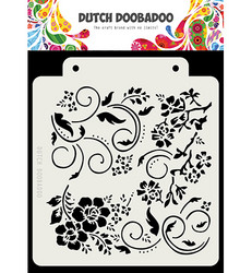 Dutch Doobadoo Flowers and Swirls -sapluuna