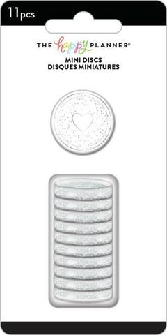 Mambi Happy Planner renkaat. Glitter Silver. 0.75