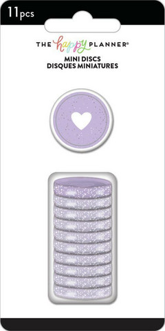 Mambi Happy Planner renkaat. Glitter Grape. 0.75