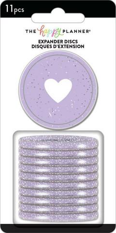 Mambi Happy Planner renkaat. Glitter Grape. 1.75