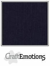 CraftEmotions Linnen -kartonki, musta, 10 arkkia