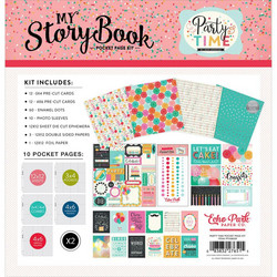Echo Park My Story Book Pocket Page Kit, Party Time, 12