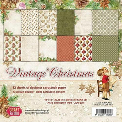 Craft & You paperipakkaus Vintage Christmas, 12