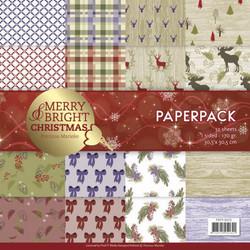 Precious Marieke paperipakkaus Merry & Bright Christmas, 12
