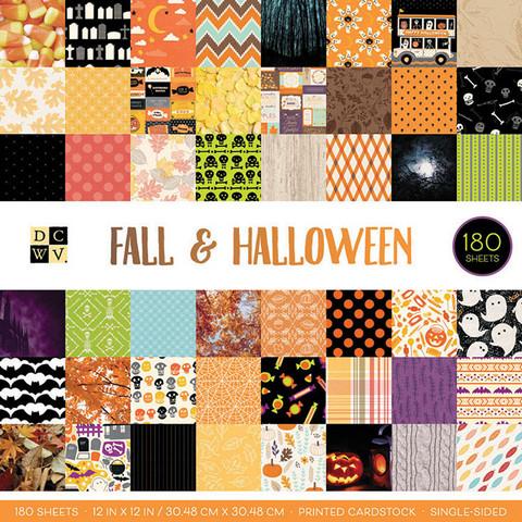 DCWV Fall & Halloween -paperipakkaus, 12