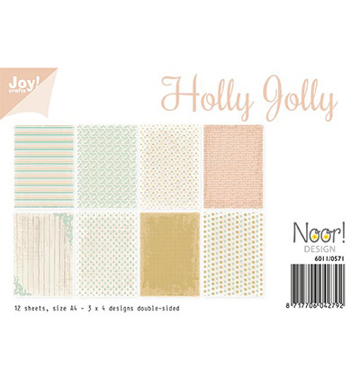 Joy! Crafts paperipakkaus A4 Holly Jolly