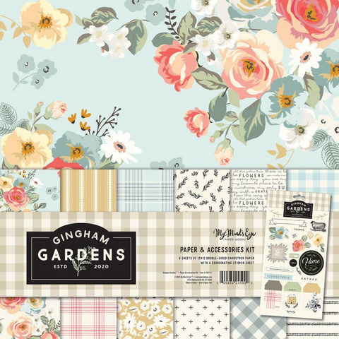 My Mind's Eye paperipakkaus Gingham Gardens, 12