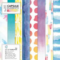 Papermania paperipakkaus Capsule, Elements Pigment, 12
