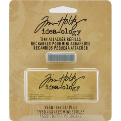 Tim Holtz Idea-Ology Tiny Attacher Stapler niitit, 1550 kpl