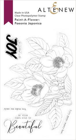 Altenew Paint-A-Flower: Paeonia Japonica -leimasinsetti