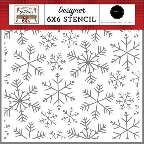 Carta Bella sapluuna Merry Snowflakes