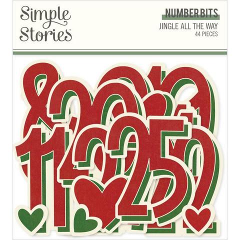 Simple Stories Jingle All The Way Number Bits, leikekuvat