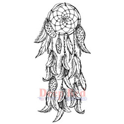Deep Red leimasin Dream Catcher