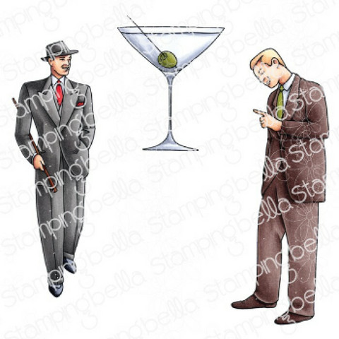 Stamping Bella Edgar And Molly, Vintage Martini Man Set -leimasinsetti