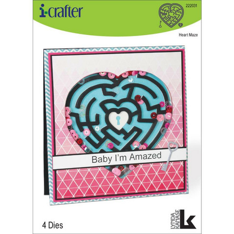 i-crafter stanssisetti Heart Maze