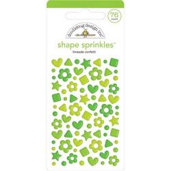 Doodlebug Shape Sprinkles Enamel tarrat, Limeade Confetti