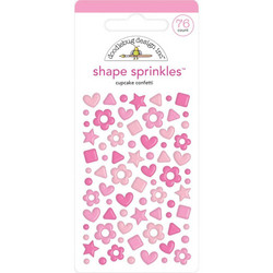 Doodlebug Shape Sprinkles Enamel tarrat, Cupcake Confetti