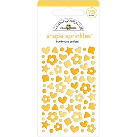 Doodlebug Shape Sprinkles Enamel tarrat, Bumblebee Confetti