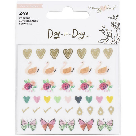 Crate Paper Maggie Holmes Day-To-Day Mini Sticker Book 3 -tarrakirja
