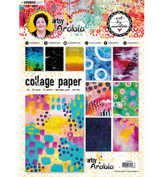 Studio Light paperipakkaus Collage Paper, Art By Marlene, Artsy Arabia