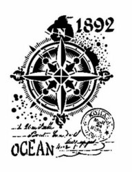 Cadence sapluuna Ocean Compass, 21 x 29 cm