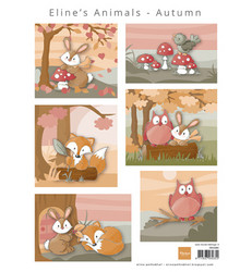 Marianne Design korttikuvat Eline's Animals - Autumn